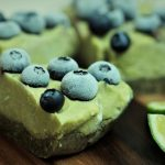 Raw and creamy Avocado Berry Lime Cheesecake