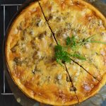 Spitzkohl- Hack- Tarte, (low-carb)